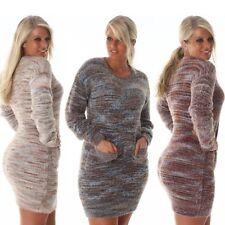 Damen-Pullover & -Strickware mit Rundhals-Ausschnitt und Karo/Rauten Normalgröße