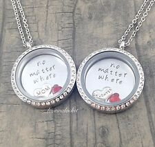 Mother Daughter Necklaces, Mother Daughter Lockets, No Matter Where, Necklaces
