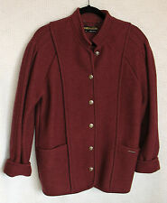 GEIGER 100% Wool Long Sleeve Button Front Coat Size 36 (M)