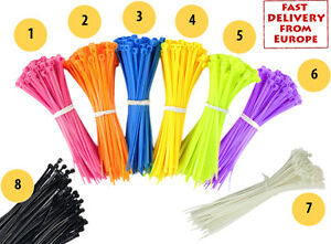 25 Pcs Cable Ties Colors 10cm Wire Zip  Tire Up - From Europe