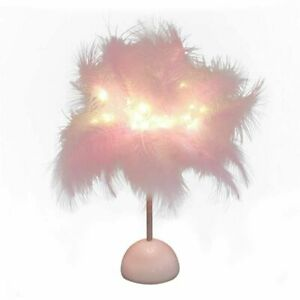 Feather Night Light LED Fairy Light Table Lamp Home Living Room Night Lamp Party