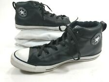Converse All Star Chuck Taylor Black Leather High Tops Mens Size 12 Insulated