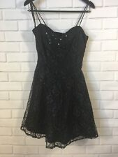 Maurices LA Glo Black Lace Vintage Coctail Dress Size 11/12 with Flawed Jacket