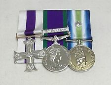 Military Cross, GSM Northern Ireland, Falklands, Full Size Court Mounted Medals