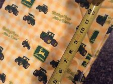 Large size Tractor John Deere licensed Cotton Quilt Fabric Backing Springs