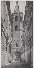 D6763 Alghero - Campanile dell'antica Cattedrale - Stampa d'epoca - 1930 print