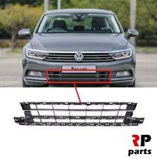 VW PASSAT B8 2014 - 2018 FOR FRONT BUMPER LOWER CENTER GRILLE BLACK / CHROME