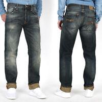 Nudie Herren Regular Fit Jeans |Big Bengt Dirt Second Hand |B-WARE | W33 L32