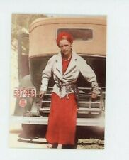 Bonnie Parker - Bonnie and Clyde - METAL trading card - Murder - Color Photo