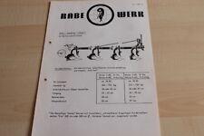 144407) Rabewerk - Anbau-Beetpflug - Meise - Prospekt 01/1972