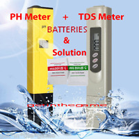 Digital Ph Meter + TDS Tester Hydroponic Pool Water Aquarium Pocket Portable NEW