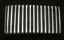 GÜRTELSCHNALLE für 20mm BREITE Gürtel METALL Farbe ALTSILBER gestreift NEU Top #