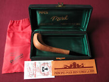 New Pierre Morel cobra briar pipe full set fait main unsmoked NOS tie-vintage