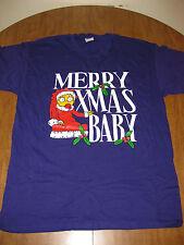 MAGGIE SIMPSON Christmas vtg lrg T shirt FOX cartoon tee Simpsons