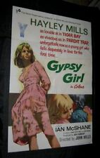 Original GYPSY GIRL aka SKYWEST & CROOKED British 1 sheet HALEY MILLS JOHN MILLS