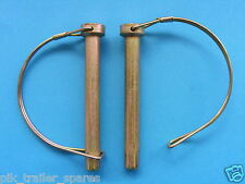 FREE P&P* 2 x 11mm Extra Large Shaft Locking Retaining Pin - D Clip Lynch #437