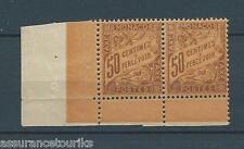 MONACO TAXE - 1905 Nº 7 - PAIRE TIMBRES NEUFS* gomme dégradée