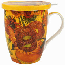 McIntosh Trading - Tea Mug w/ Infuser & Lid - Van Gogh Sunflowers