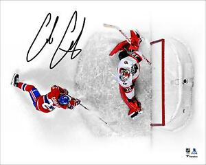 """Cole Caufield Montreal Canadiens Autographed 16"""" x 20"""" First NHL Goal Photograph"""