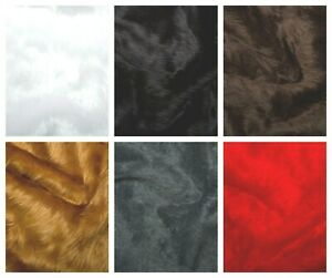 6 COLOURS Luxury Soft Short Pile Faux Fun Fur Fabric 150cm wide Furry Christmas