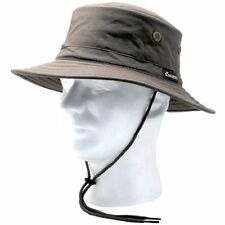 Classic Specialty Stores Cotton Hat With Wind Lanyard, Dark Brown, UPF 50+ Sun