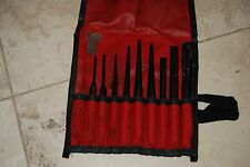 Snap On 9 Pc Punch and Chisel Set with Red Fabric Bag PPC710BK