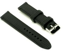18mm Black Soft Silicon Rubber Diving Watch Strap Fits All