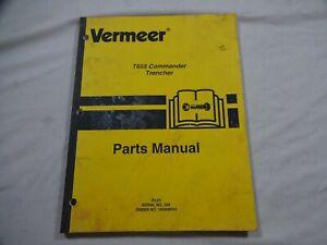 Vermeer T-655 Commander Trencher Parts Catalog Manual 105400-P51
