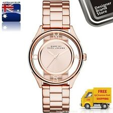 Marc Jacobs MBM3414 Womens Rose Gold Dial Analog Quartz Watch