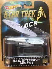 Hot Wheels Retro Entertainment STAR TREK 5.0 U.S.S. ENTERPRISE NCC-1701 1:64
