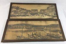 2 Carde Paysages En Bois Vintage PHILIPPEVILLE .