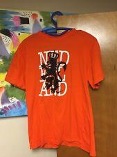 Nike KNVB Nederland T-shirt Royal Dutch Football Large Organic Cotton Orange