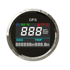 Waterproof GPS Digital Speedometer Odometer Gauge for Motorcycle  Car Truck 52mm