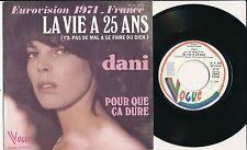 """EUROVISION 1974 45 TOURS 7"""" FRANCE LA VIE A 25 ANS"""