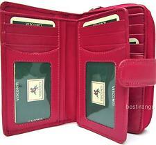 Rosa suave cuero cartera Triple 16 tarjetas Visconti Nuevo en Caja De Regalo De Calidad (HT33)
