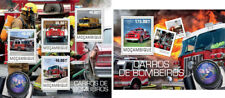 Fire Engines Transport Firefighters Feuerwehrleute Mozambique MNH stamp set