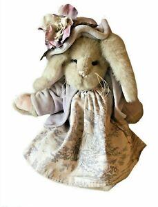 The Bearington Collection Marietta Bunny Rabbit Plush Dressed Up Bunny Plush Toy