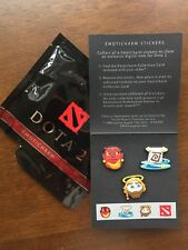 DOTA 2,  Emoticharm Pack, 3 Pins & Steam Code, Package Opened/ Items Unused