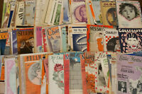 Vintage Sheet Music Lot 200pc 1920s Hits Songs