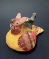 Vase dieu chauve souris Paracas Perou art précolombien precolumbian art