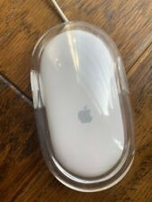 Genuine Apple Optical Mouse Clear White USB Mac Pro M5769