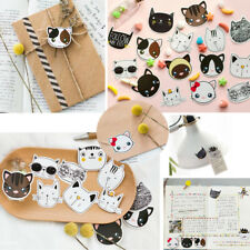 45 Pcs Cute Cat Head Mini Paper Sticker Decoration DIY Scrapbooking Label Decor