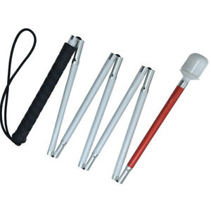 125cm-155cm  Aluminum Folding White Cane for the blind  (7 sections) 7X-125-155
