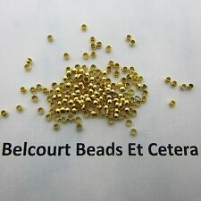 100 - 2mm Gold Plated Loose Crimp Beads