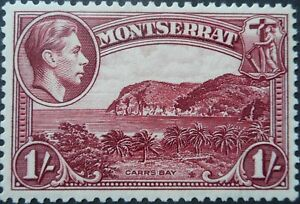 Montserrat 1938 GVI One Shilling SG 108 mint