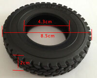 1Pc Single 1/14  Tamiya RC Rubber Tyre For Tractor Truck Trailer Climbing Car