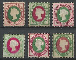 HELGOLAND 1875 Full Set Mint, MH