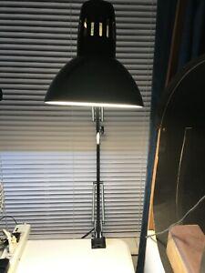 Desk Lamp Swing Arm Architect Drafting Light W/ Metal Clamp Vintage Work Office