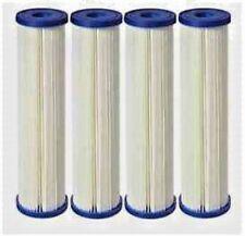 Big Blue Pleated Sediment Water Filters 4 Washable 4.5 x 20 Cartridge 10 Micron