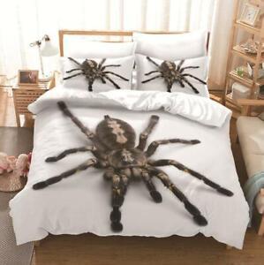 Practical Jokes Spider Animal Quilt Duvet Cover Bedding Set Single Double Size